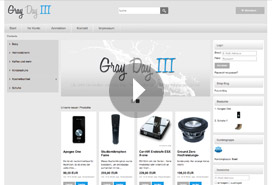 Video-demo responsive template Gray Day Gen. III