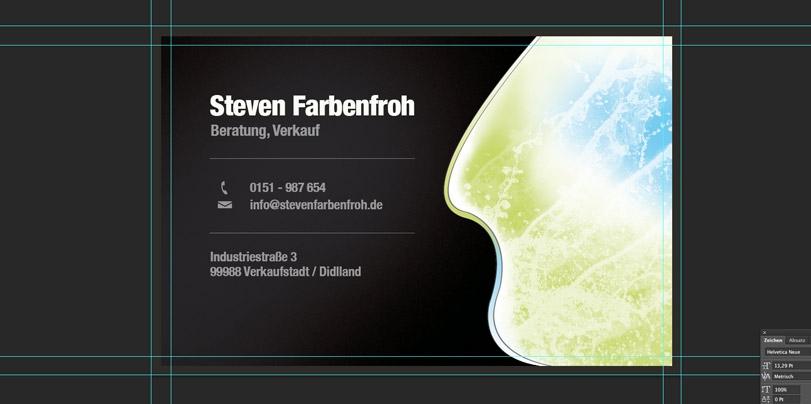 Visitenkartenvorlage Psd Visitenkarten Beispiel Steven