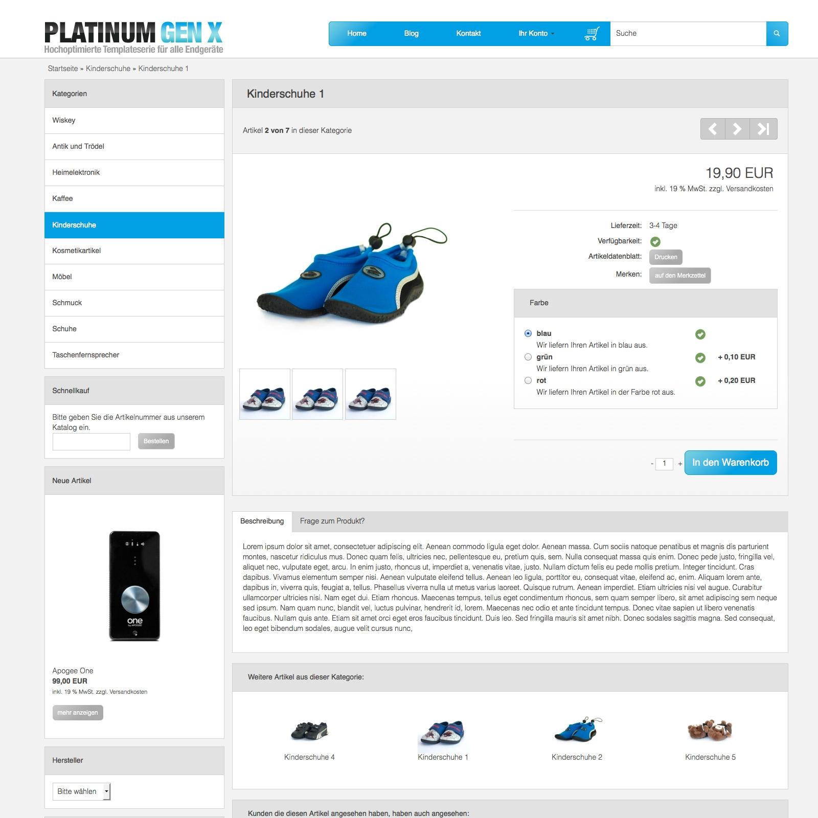 Platinum Generation X (blau)