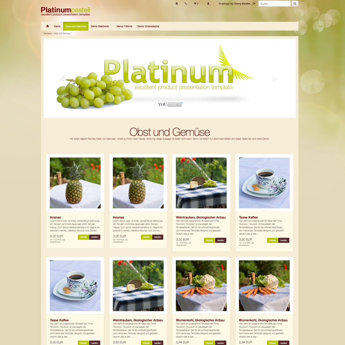 css template platinum pastell, commerce:seo template, responsive ...