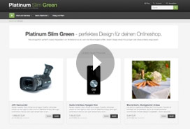 VIDEODEMO - Template Platinum Slim Green 4 commerce seo onlineshop software